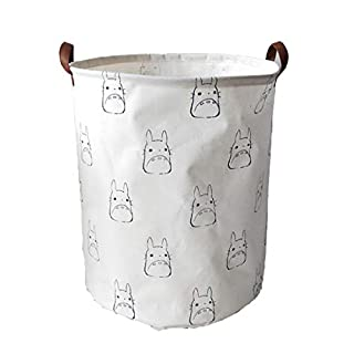 Collapsible Totoro Storage Bin Hamper Laundry Basket, Foldable Dirty Clothes Bag with Handles Home Bedroom Office Toys Books Organizer