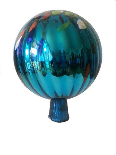 Gartenkugel farbige Rosenkugel türkis bunt verspiegelt dekorative Kristallglas Gartenkugel wetterfest mundgeblasen Durchmesser ca.16 cm Oberstdorfer Glashütte