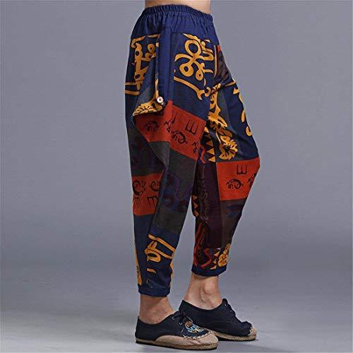 La Primavera Algodón Farbe Foto Bolsillos Casuales Battercake Con Pintura Harem Hippie Roca Verano Pantalones De Los Del Hombres Boho Cómodo w77qXIA