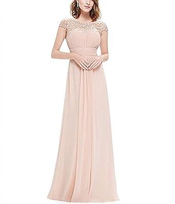 Morbuy Vestido de Noche, Mujeres Elegante Cordón Corte Alto Largo Vestido Maxi Vestido de Noche para Boda Fiesta Partido Playa