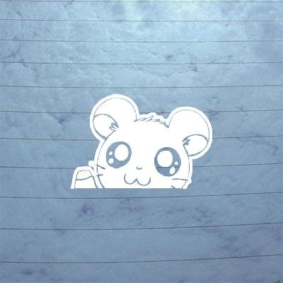 cybersavs Home Decor Decor Bike Car White Art Hamtaro Notebook Wall Art Decoration Window Sticker Decal Hamster Hamshir Car Helmet Wall Laptop Auto Macbook Adhesive Vinyl