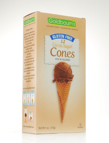 Natural Goldbaums (Goldbaum's Gluten Free Ice Cream Cones, Cocoa Sugar, 5 Ounce (Pack of 4))