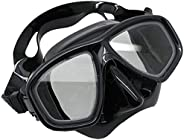 Scuba Choice Scuba Black Diving Dive Snorkel Mask Farsighted Prescription RX Optical Corrective Full Lenses, 2