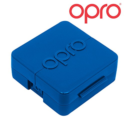 OPRO Biomaster Antimicrobial Case for Mouth Guards- Keeps Your Mouthguard Safe and Hygienically Protected (Blue)