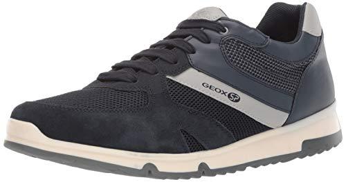 Geox Men's Wilmer 4 Retro Sneaker Blue, 44 Medium EU (11 US)