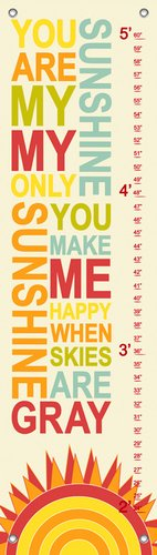 you are my sunshine growth chart - 6