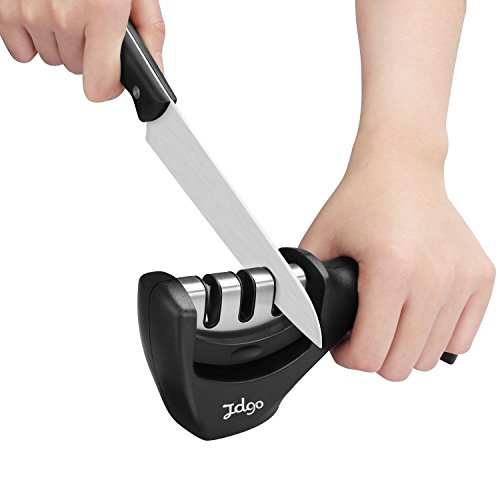Jdgo Professional Knife Sharpener,Stainless Steel Knife sharpening Tool,Manual Knife Sharpener-Kithen Tools