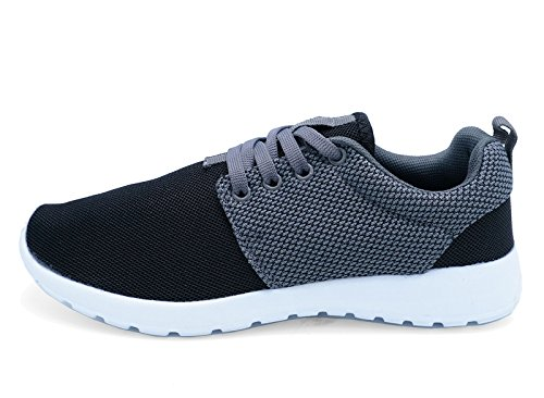 3 8 Shoes Pumps Sizes Grey Sports Running plimsolls Black Ladies Trainers Casual PCqSvxaSwA