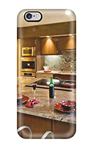 Tpu Case Cover For Iphone 6 Plus Strong Protect Case - Granite Countertops And Backsplash With Large Kitchen Island Design(3D PC Soft Case)