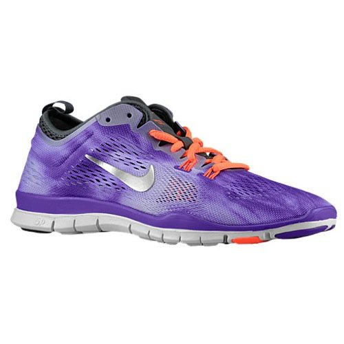 nike free 5.0 TR FIT 4 WASH womens running trainers 653988 sneakers shoes (uk 4 us 6.5 eu 37.5, hyper grape/metallic silver-dark grey 500)
