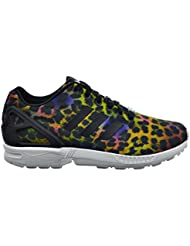 adidas Womens ZX Flux Multi Color Black Animal Print Fashion Sneakers