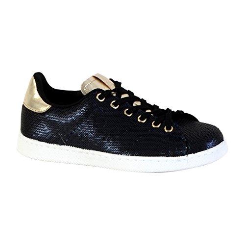 sneakers da donna Deportivo blu Placa Metalizado Victoria wqHpngA7
