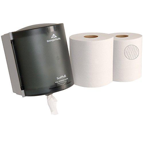Georgia Pacific Sofpull 58204 Centerpull Towel Dispenser Bundle with 6 Towel ()