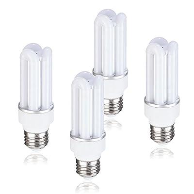 7W 3000K LED Corn Light Bulb for Indoor Outdoor Large Area - E26 630Lm AC 120V Soft White,for Street Lamp Post Lighting Garage Factory Warehouse High Bay Barn Porch Backyard Garden(4 Pack?