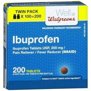 Walgreens Ibuprofen 200 mg Tablets, Twin Pack, 200 -