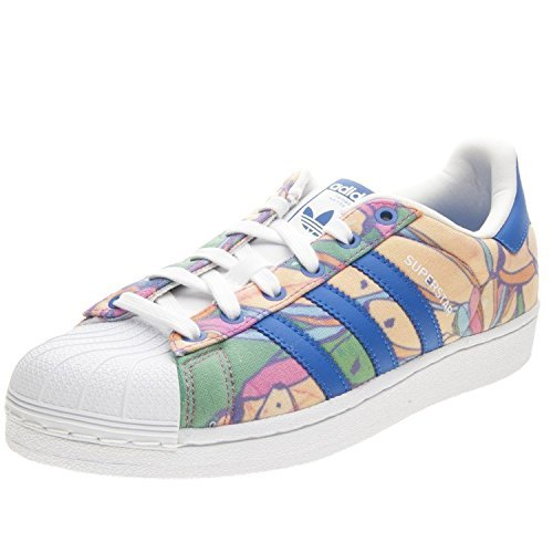 Adidas Originals Women's Superstar W Fashion Sneaker, Lab Blue/Lab Blue/White, 11 M US