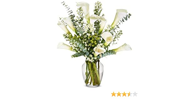 163 & Flowers - Sympathy Calla Lilies - Premium (Free Vase Included)