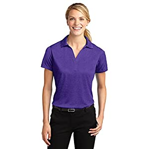 Sport-Tek Ladies Heather Contender Polo, Blue Wake Heather, Small