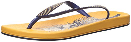 Ipanema Women's Ana Pine Flip-Flop, Yellow/Blue, 6 M US