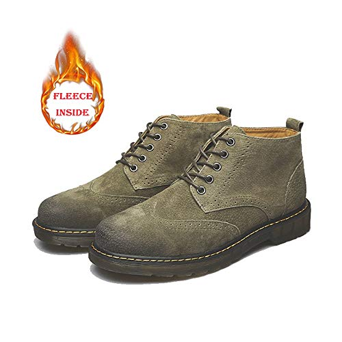 Warm Warm Dimensione Boots all EU retrò Daily Occasions e Giallo for Green Stivali alla 36 Warm indossabili Martin Color Velvet Comodi Casual Stivaletti Moda for Men Bangxiu Opzionale B4ndqB
