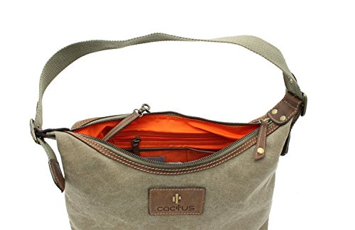 Denim Khaki CACTUS Canvas Bag Distressed 81 Oiled Leather Shoulder CL812 And vzw7Uqz