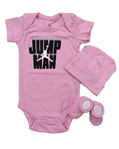Nike Michael Jordan Infant Layette 3 Pcs Sets Bodysuit Cap and Booties