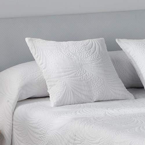El Tintorer Colcha de Verano Lido (Blanco, Cojin 50 x 50 cm (sin Rellen
