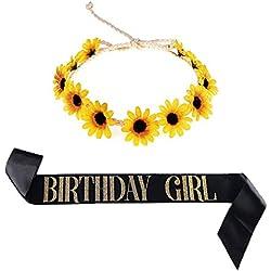 Nager Sunflower Crown Flower Headband Birthday