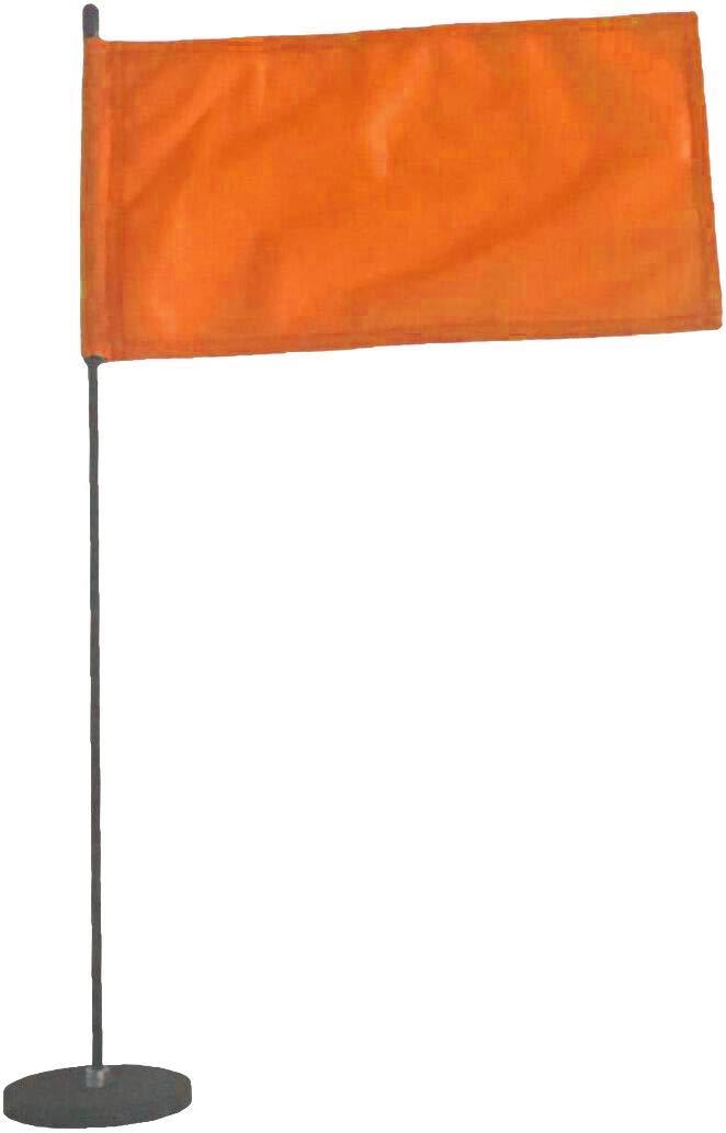 Magnetic Base Flag Holder - Hold Force 44 lbs. Flex Steel Spring Pole 16 inch (8 x 13) Orange Flag
