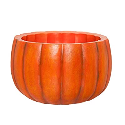 PINE AND PAINT LLC Pumpkin Bowl Planter Drink Holder Large Resin