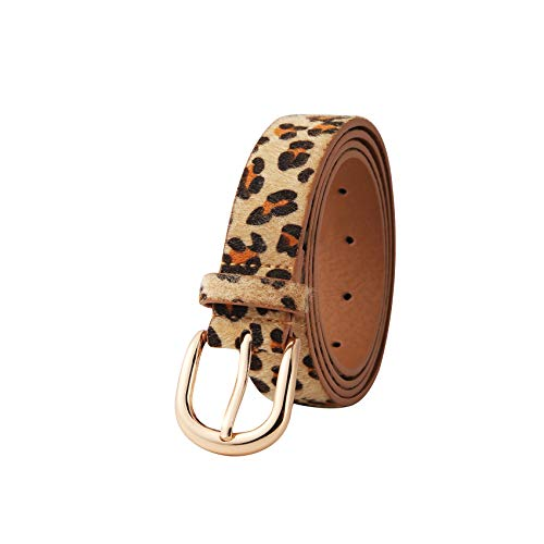 (2019 Leopard Suede Women Dress Belts for Jeans 2.8mm Shiny Vintage Designer Casual Girl PU Leather Pants Waist Belts)