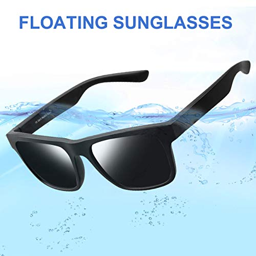 Avoalre Floating Sports Sunglasses, 100% UV Protection Impact Resistance Sports Glasses for Men Women Driving Running Climbing Outdoor Activities Unbreakable Lightweight Tr90 ()