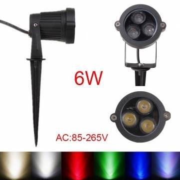 Foco LED de 6 W con varilla para jardín horizontal IP65 AC ...