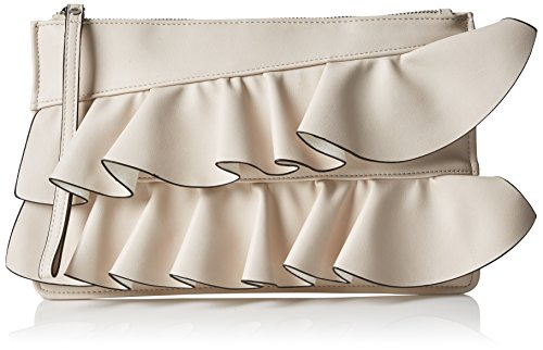Miss Selfridge Frill, Damen Clutch, Off-White (Cream), 1x18.5x29 cm (W x H x L)