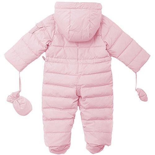 3665a511f659 Amazon.com  OCEANKIDS Baby Boys Girls Pink Pram One-Piece Snowsuit ...