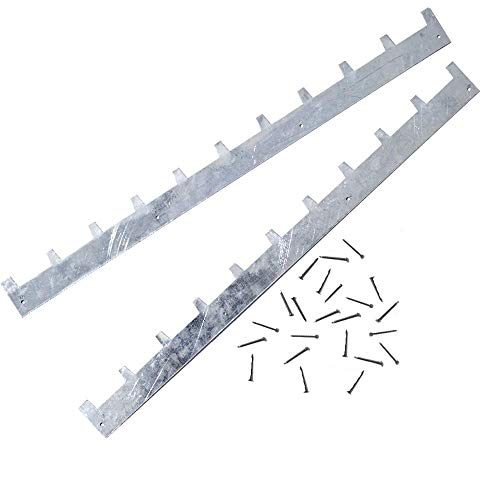 20 Pack of 10-Frame Metal Spacers with Nails for Spacing Frames Evenly in Bee Hive