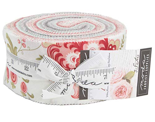Porcelain Jelly Roll 40 2.5-inch Strips by 3 Sisters for Moda Fabrics 44190JR ()