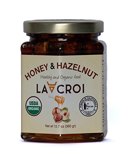 Lacroi 100% Organic, Natural Honey And Organic Hazelnut -