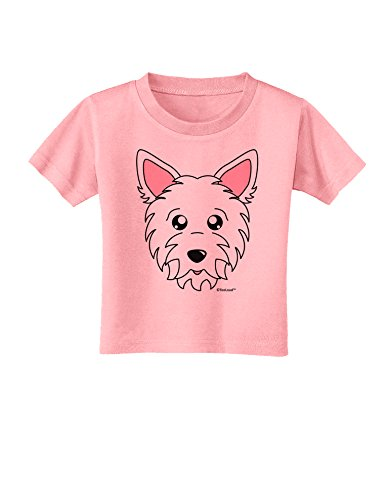 (TooLoud Cute West Highland White Terrier Westie Dog Toddler T-Shirt - Candy Pink - 3T)