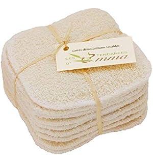 LES TENDANCES DEMMA 10 Disques en coton bio à démaquiller lavables