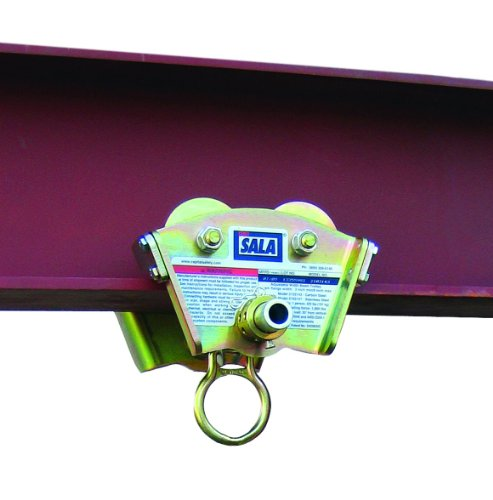 3M DBI-SALA 2103143 Trolley For I-Beam For Use w/Self Retracting Lifeline (Fits Beam Flanges 3''-8'' In Width Up To 11/16'' Thick), Gold by 3M Fall Protection Business