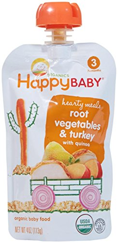 Happy Family happy baby stage 3 Hearty Meals – Gobble Gobble – 4 Ounce – 8 Pack