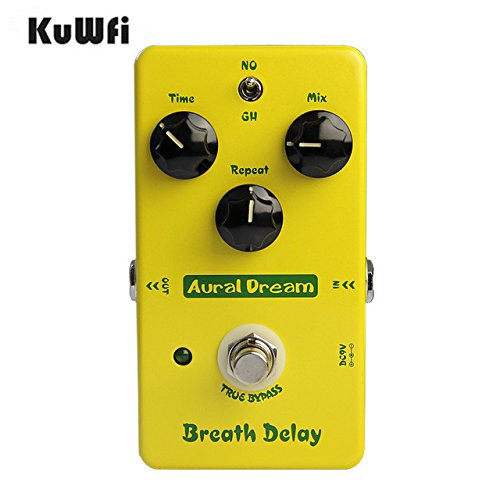 KuWFi Effektgerät , Aural Dream Breath Delay E-Gitarre Effektpedal Kopieren Mad Professor Deep Blue Verzögerung True Bypass KuWFi Effektgerät