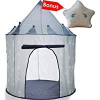 Princess Castle Play Tent, Durable Girls Boys Pop Up Play...