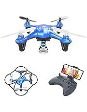 ATOYX Mini Drone con Cámara para Niños , AT-96 RC Quadcopter con App FPV en Tiempo Real, Drone de Juguete para Niños y Principiantes,Sensor de Gravedad, 3D Flips, Una Tecla de Despegue/Aterrizaje