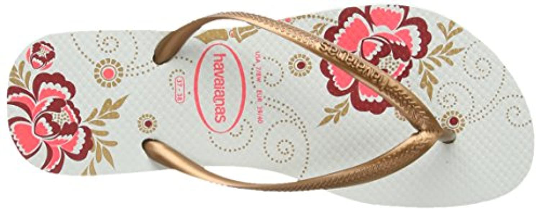 Havaianas Womens' Slim Organic Flip Flops, Multicolour (White / 0001), 3 UK / 37-38 EU