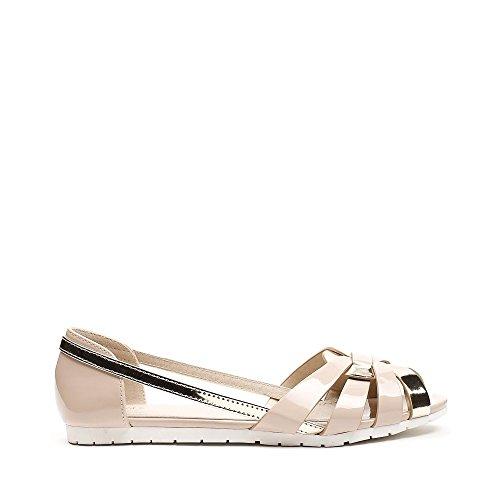 Ideal Shoes, Damen Ballerinas Beige