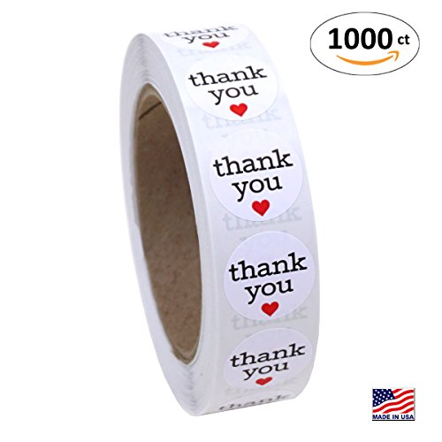 Round Sticker Labels Hearts Stickers product image