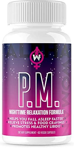 Alpha Woman PM - Nighttime Relaxation Formula - Relieve Stress, Reduce Food Cravings, Promote Healthy Libido - Vegan & Keto Safe -60 Capsules 1