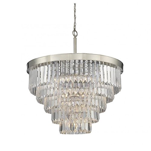 Savoy House 1-9802-9-109 Nine Light Chandelier in Polished Nickel